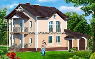 Проект двухэтажного дома 140 кв.м — 105-140