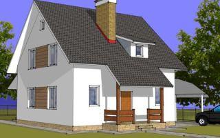 Проект дома с мансардой 133 кв.м — 102-133
